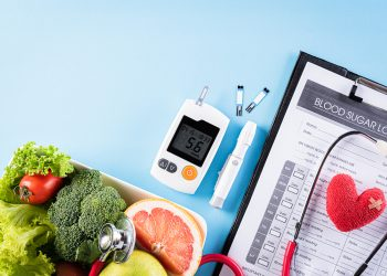 Table with personal diabetes supplies - Hometown Health Clinic